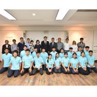 สมาคมธุรกิจรับสร้างบ้านรับมอบตัวนักศึกษาโครงการทวิภาคีรุ่นที่ 5