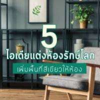 5 ไอเดียแต่งห้องรักษ์โลกเพิ่มพื้นที่สีเขียวให้ห้องคุณ