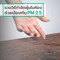 รวมวิธีกำจัดฝุ่นในห้อง ช่วยป้องกัน PM 2.5
