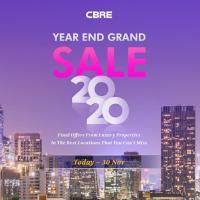 ซีบีอาร์อีจับมือ 12 โครงการชั้นนำจัดแคมเปญส่งท้ายปี CBRE Year End Grand Sale 2020