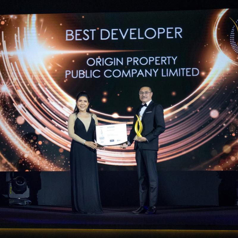 """""""ออริจิ้น"""" กวาด 4 รางวัลคุณภาพ จากเวที """"Property Guru Thailand Property Awards 2020"""""""