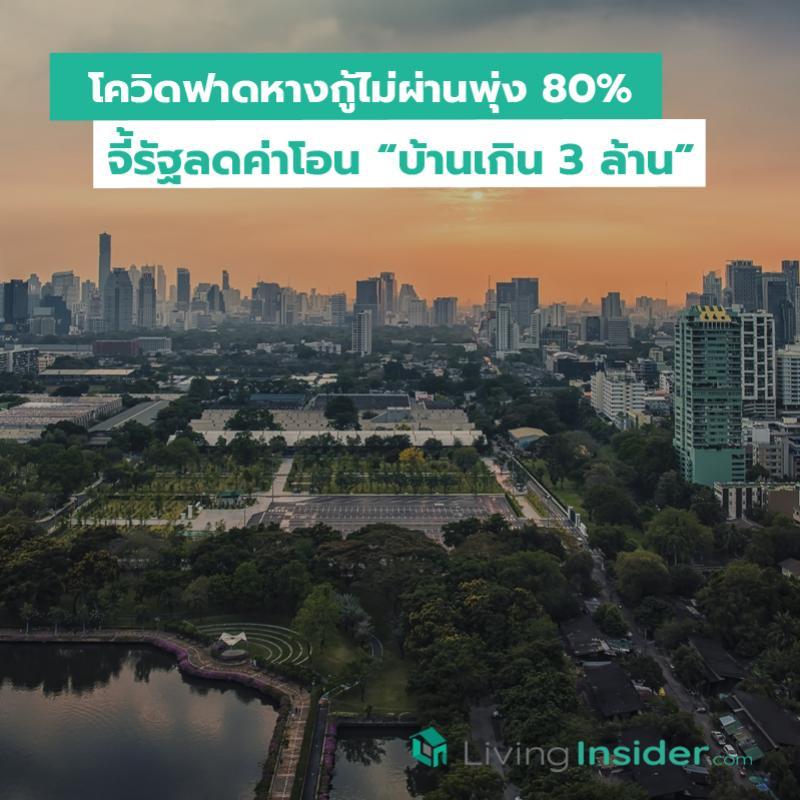 โควิดฟาดหางกู้ไม่ผ่านพุ่ง 80% จี้รัฐลดค่าโอน บ้านเกิน 3 ล้าน