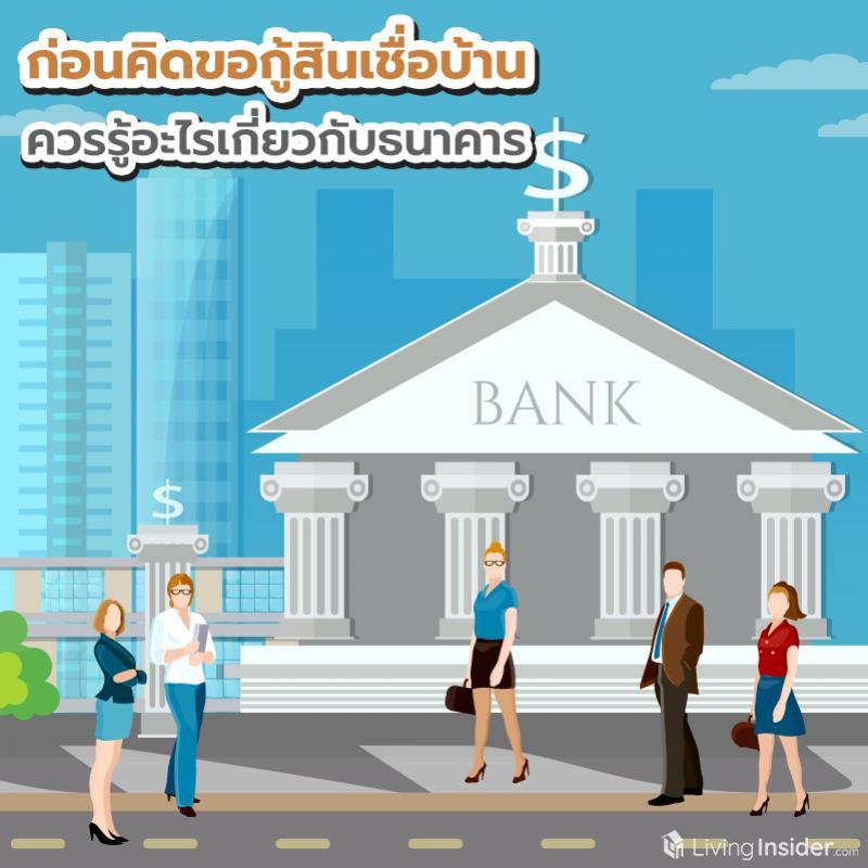 ก่อนคิดขอกู้สินเชื่อบ้าน ควรรู้อะไรเกี่ยวกับธนาคาร