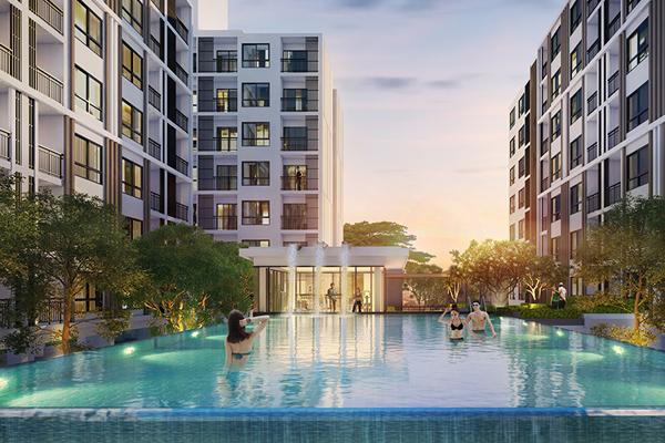 For SaleCondoKasetsart, Ratchayothin : Supalai City Resort Ratchayothin - Phaholyothin 32 Size 30 Sq.m. 1 bedroom **Fully furnished**