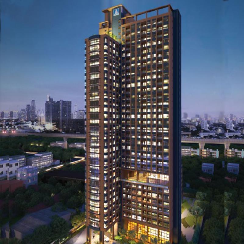 ขายคอนโดพระราม 9 เพชรบุรีตัดใหม่ : ขาย Lumpini Suite Petchaburi Makkasan 2 bed1 bath 41.5sqmวิวสระ 5,800,000