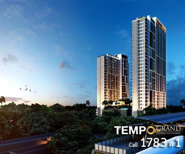 For RentCondoThaphra, Wutthakat : 📌 For rent, The tempo Grand Sathorn-Wutthakat, next to BTS Wutthakat, convenient to travel.