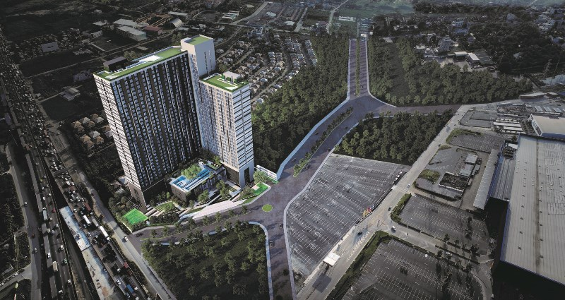 For SaleCondoBangna, Lasalle, Bearing : Down payment for sale at A Space Mega 2 - 1 bedroom, south floor, 10th floor