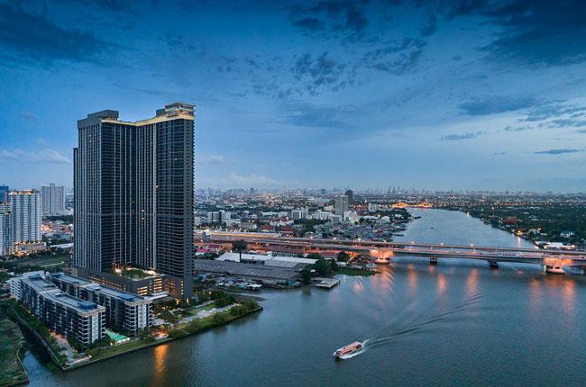 ขายคอนโดรัตนาธิเบศร์ สนามบินน้ำ : ขาบคอนโด Politan Rive ริมแม่น้ำ ใกล้รถไฟฟ้า ชั้น 35 ขนาด 25 ตร.ม. ตำแหน่ง 37 วิวแม่น้ำ สวยสุด