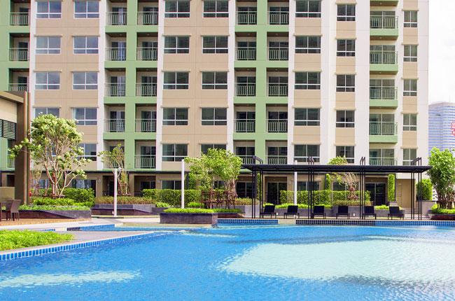 For RentCondoRama9, RCA, Petchaburi : Lumpini Park Rama 9 - Ratchada Size 27 Sq.m. 1 bedroom **Fully furnished, Ready to move**