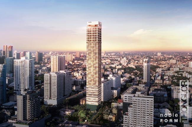 Sale DownCondoSukhumvit, Asoke, Thonglor : Noble Form Thonglor Size 46.73 Sq.m. 1 bedroom **South side, Bangkrajao view**