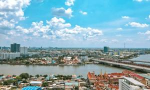 For SaleCondoBang Sue, Wong Sawang : (Owner) Chapter One Flow Bangpo: 2-Beds&1-Bath Chao Phraya River View - Corner room, high floor is good.