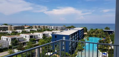 For SaleCondoCha-am Phetchaburi : Sell Bann Thew Talay Blue Sapphire Condo, Baan Thew Talay, Blue Sapphire, Cha-am - Hua Hin. Sea view, size 70 sq.m., 2 bedrooms, 2 bathrooms, Building C