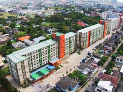 For RentCondoSamrong, Samut Prakan : Condo for rent, Lumpini Ville Sukhumvit 76, bearing station.