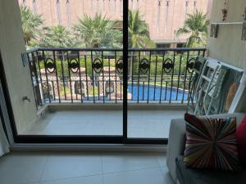 For SaleCondoHua Hin, Prachuap Khiri Khan, Pran Buri : Condo Marquez, Building 6, Floor 3, pool view. Fully furnished room. Fully renovated Never rent