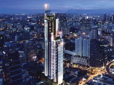 For SaleCondoSilom, Saladaeng, Bangrak : Sell 1 bedroom 49 sqm., Large size, high floor, Ashton Silom, near Bts Chong Nonsi