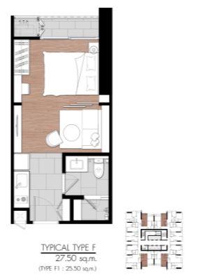 ขายคอนโดพระราม 9 เพชรบุรีตัดใหม่ : (เจ้าของโพสต์) ขายดาวน์ คอนโด One9five ห้อง Studio ชั้น 26 ตึก B ตำแหน่ง B2617 ขนาด 27.5 ตารางเมตร วิวโล่งระเบียงทิศตะวันออก ห้องไม่ร้อนเพราะไม่มีแดดช่วงบ่าย