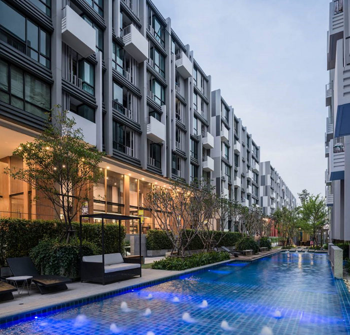 For RentCondoNawamin, Ramindra : For Rent Condo Esta Bliss (23-41 sq.m) @Big C Suwintawong, 1-2Beds Nice View, Fully furnished