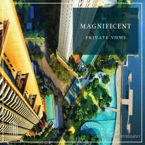 For SaleCondoWongwianyai, Charoennakor : Condo for SALE *** Magnolias Waterfront Residences ICONSIAM *** High floor, 2 bedrooms, extra large, World Class project @35.56 MB