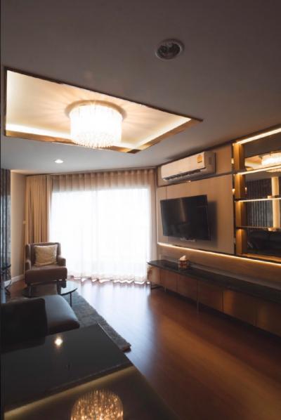 ให้เช่า คอนโด เบ็ล แกรนด์ พระราม 9 (Belle Grand Rama 9)  ห้อง Duplex  ขนาด 100 ตร.ม  อาคาร D  ชั้น 34  ขนาด 3 ห้องนอน 3 ห้องน้ำ 1 ห้องครัว บิ้วอินท์ใหม่หมด  Fully furnished