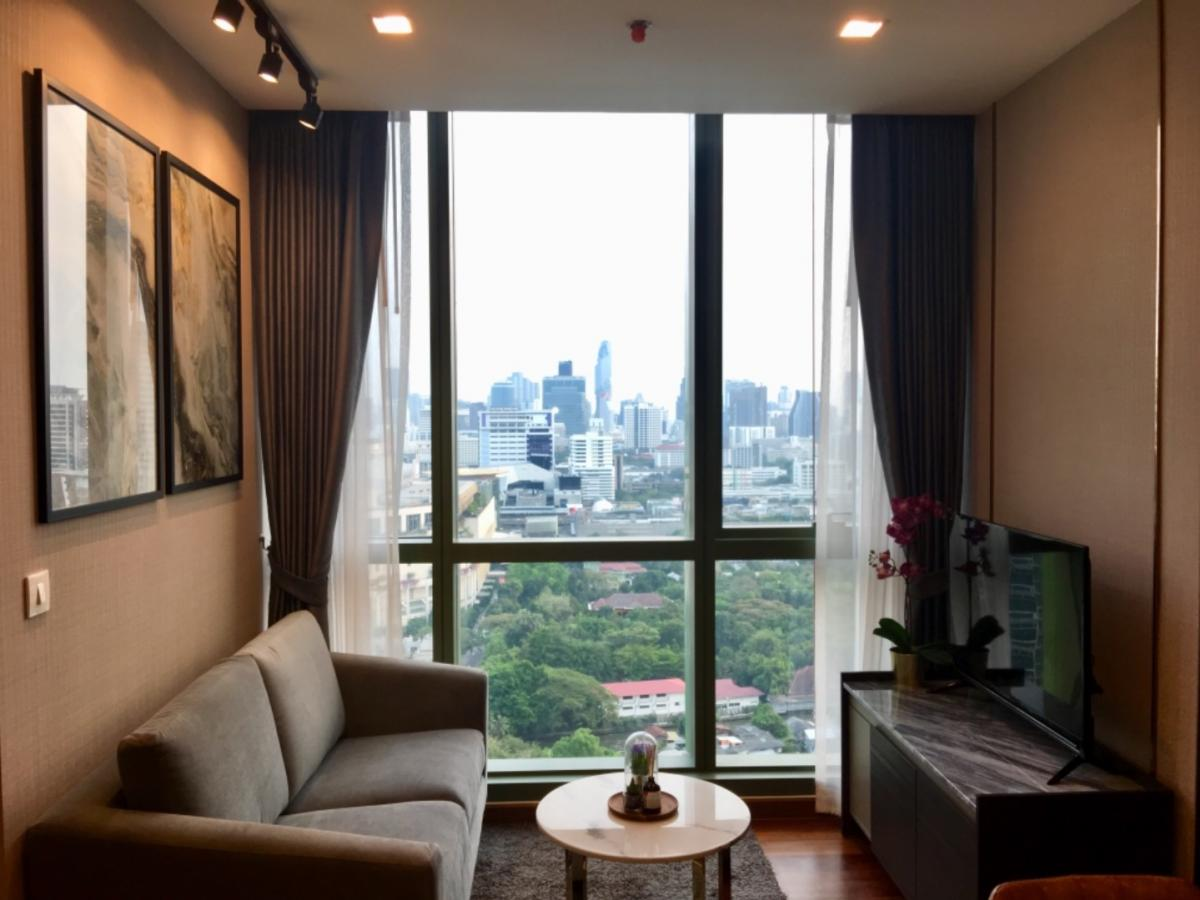 For RentCondoRatchathewi,Phayathai : [Sell or rent] Wish Signature Midtown Condo, 1 bedroom, south, beautiful view, high floor, size 34 sq.m.