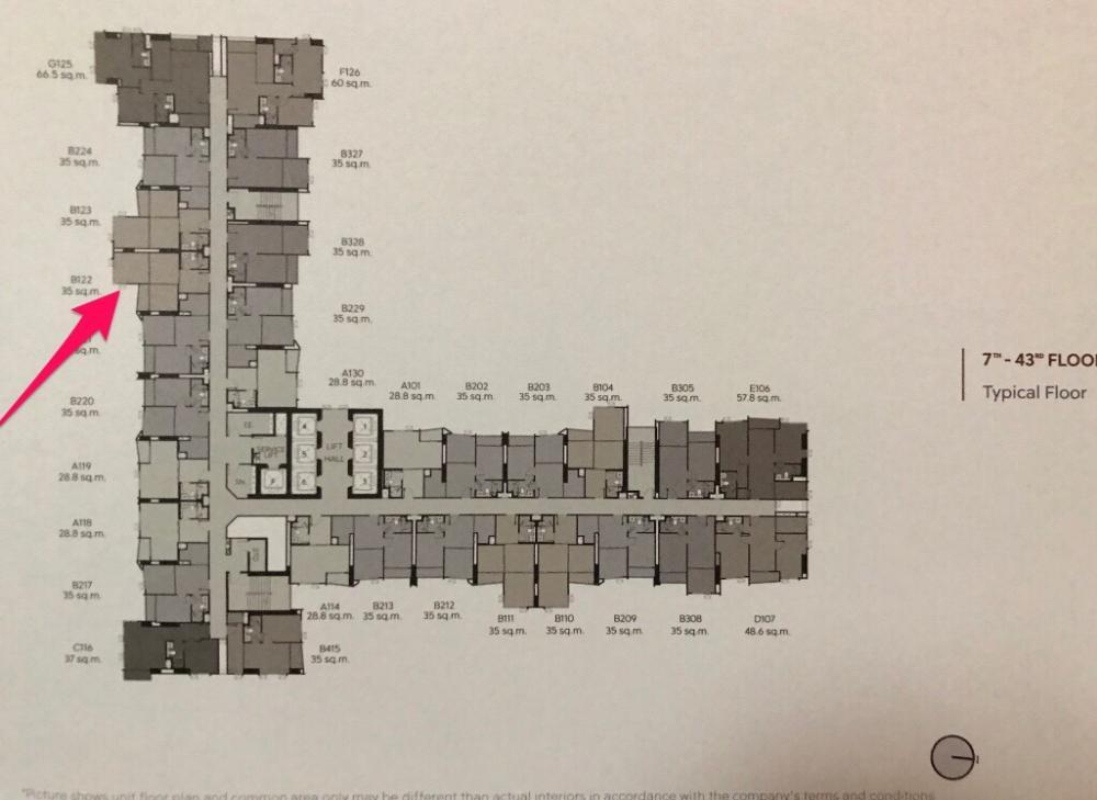 ขายคอนโดลาดพร้าว เซ็นทรัลลาดพร้าว : ขายดาวน์ Life Ladprao Valley (ไลฟ์ ลาดพร้าว วัลเล่ย์) ชั้น 31 ทิศใต้ วิวสวนจตุจักร