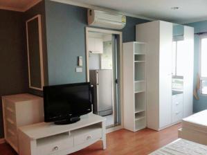 For RentCondoRamkhamhaeng, Hua Mak : Condo for rent, Lumpini Ville Ramkhamhaeng 44, size 32 sqm, 17th floor, Building A, fully furnished, electricity 8,500 baht
