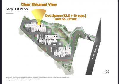 (เจ้าของ) ขายดาวน์ถูกที่สุด!!! พาร์ค ออริจิ้น ทองหล่อ Duo Space 2 ห้องนอนแบบหน้ากว้าง ห้อง C3102 ตึก C ชั้น 31  แปลนดีที่สุด วิวสวย ไม่บล็อค