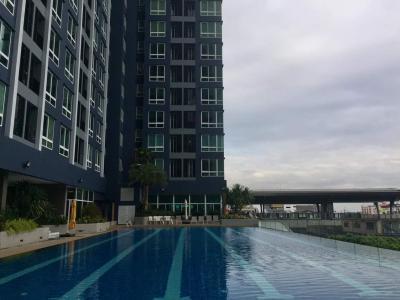 เช่าคอนโดสำโรง สมุทรปราการ : คอนโด ให้เช่า metropolisตึกA ชั้น 34 วิวสวย สำโรง ก้าวเดียว BTS สำโรง 35 ตร.ม
