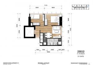 ขายดาวน์คอนโดราชเทวี พญาไท : ขาย 2 นอน 1 น้ำ 46 sqm ห้องเดิมเดิมจากโครงการใหม่แกะกล่อง