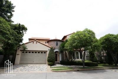 เช่าบ้านบางนา แบริ่ง ลาซาล : House for RENT *Magnolias Southern California ดีไซน์หรู บ้าน 2 ชั้น 3 ห้องนอน 3 ห้องน้ำ @100,000 Baht