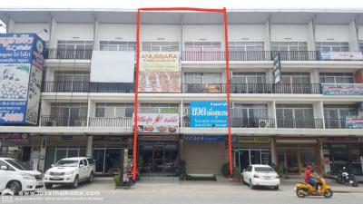 For SaleShophouseRangsit, Patumtani : 4 storey commercial building for sale, 2 booths, Central Market, Lat Sawai Chao Phraya Road, Khlong 4, an area of 23.4 Sq. Per booth, 11 million baht, good location
