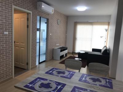 ขายคอนโดท่าพระ ตลาดพลู : Sell with tenant 2 bed 63.5. ห้องหายากชั้นสระว่ายน้ำ ไม่มีคนเดินผ่านหน้าห้องส่วนตัวสุดๆพร้อม Double securityบนชั้นนี้เท่านั้น