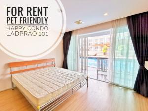 For RentCondoLadprao101, The Mall Bang Kapi : **Pet Friendly** ((ให้เช่า)) Happy Condo ลาดพร้าว 101 ตึก South 66 ตรม. เดินลงสระว่ายน้ำได้จากระเบียงห้อง ตึกนี้อนุญาตให้เลี้ยงสัตว์ พร้อมที่จอดรถส่วนตัว (S4)