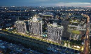 Sale DownCondoRamkhamhaeng, Hua Mak : Sale, Building B, High floor, Swimming pool, Fitness, Supalai Veranda, Ramkhamhaeng