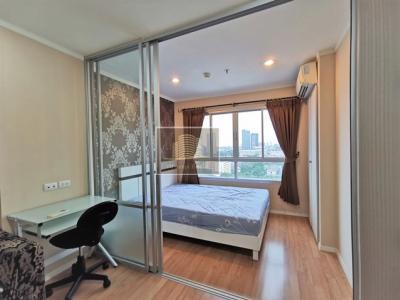 For RentCondoOnnut, Udomsuk : Beautiful room, good view, high floor, LPN Sukhumvit 77 Phase 2 (Soi On Nut), 15th Floor, Building B2, next to a parking building, size 23 sq.m.