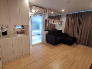 For RentCondoChengwatana, Muangthong : Condo for rent, Lumpini Ville Chaengwattana-Pak Kret 👉 2 bedrooms, 2 bathrooms, 45 sq m wide, Building A, 28th floor, beautiful room, fully furnished, ready to move in. 👉 Near Major Pak Kret