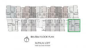 ขายดาวน์คอนโดปิ่นเกล้า จรัญสนิทวงศ์ : ขายคอนโดศุภาลัย MRT แยกไฟฉาย ชั้นสูง 3 ห้องนอน ห้องมุม ตะวันออก-ใต้