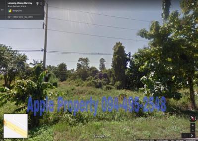 For SaleLandLampang : Land for sale, very beautiful, next to the super highway Chiang Mai - Lampang, Chat Shop, Lampang