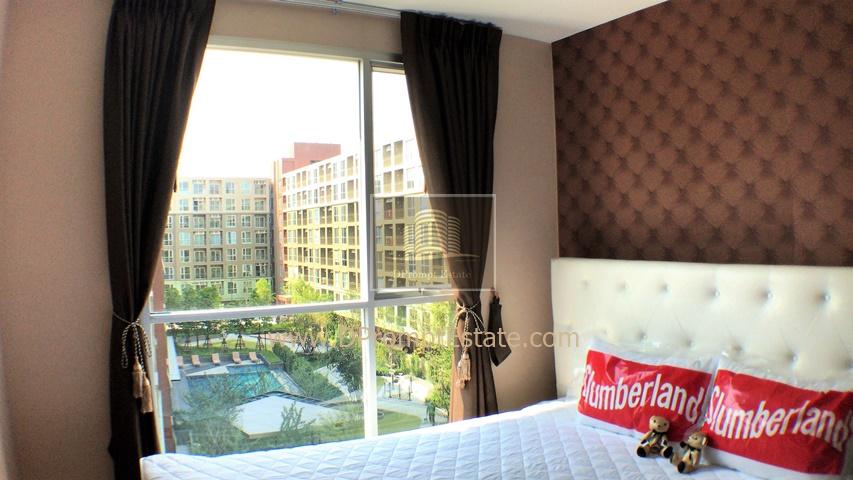 เช่าคอนโดบางนา แบริ่ง : ++ เห็นห้องจริงแล้วจะชอบ ++ ห้องแต่งสวยเหมือนอยู่โรงแรม สไตล์วินเทจ !! หลังเซ็นทรัลบางนา LPN ลุมพินี เพลส บางนา กม.3 วิวสระว่ายน้ำ และสวน