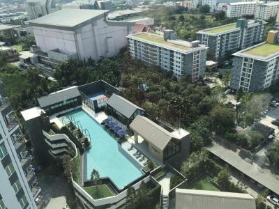 เช่าคอนโดรัชดา ห้วยขวาง : R0035 ให้เช่า ChapteroneEco รัชดาห้วยขวาง 1ห้องนอน 29ตรม อาคาร D ชั้น19  ตำแหน่ง 01 วิวสระว่ายน้ำ ส่วนกลางสวยมากๆ 15,000฿/เดือน