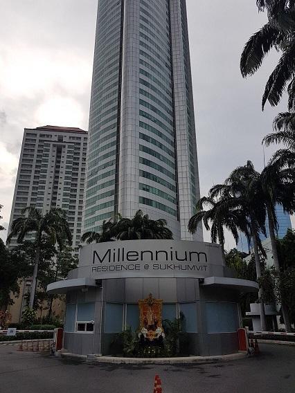 For RentCondoSukhumvit, Asoke, Thonglor : Condo for rent, Millennium Residence at Sukhumvit, near MRT Sukhumvit, 19th floor.