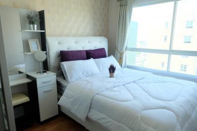 For RentCondoNawamin, Ramindra : Condo for rent, Lumpini Park Nawamin-Sriburapha, size 26 sq.m. 7500, furniture, electrical appliances, 2 air conditioners, separate rooms (Lumpini Park Nawamin-Sriburapha)