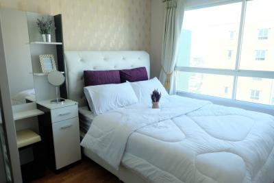 For RentCondoNawamin, Ramindra : For rent, Condo Lumpini Park Nawamin-Sriburapha, size 26 sq. M. 6,500-8,000, fully furnished, 2 air conditioners, separate room (Lumpini Park Nawamin-Sriburapha).