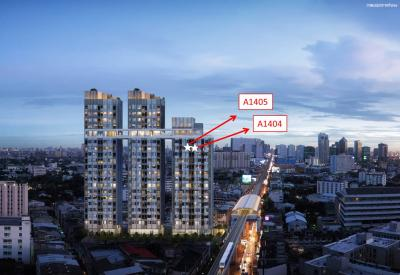 For SaleCondoKasetsart, Ratchayothin : Sell down payment Knightsbridge Kaset Society, Building A, 14th floor, size 23.30 sq.m.