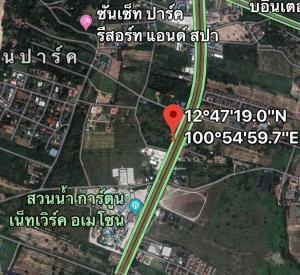 For SaleLandPattaya, Bangsaen, Chonburi : Land for sale on Sukhumvit Road, Pattaya, Bang Sarayana, Jomtien 46-48, near Cartoon Network Water Park, 200 meters, opposite Nong Nooch Gardens, 7-3-94 Rai