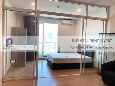 For RentCondoSathorn, Narathiwat : For rent Supalai Lite Ratchada-Narathiwas-Sathorn 1 bed 34.5 sqm. Floor 21 city view 11,000 baht/month
