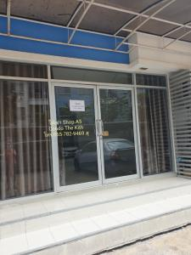 For RentCondoRattanathibet, Sanambinna : ให้เช่าร้านค้า คอนโดThe KIth Tiwanon เดอะคิทท์ ปากเกร็ด 7,000 บาท มีแอร์ ตึกA5 ชั้น1 เพื่อทำการค้า