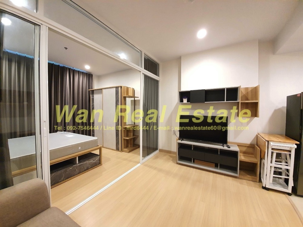For RentCondoSathorn, Narathiwat : For rent, Condo Supalai Lite Ratchada, Narathiwat, Sathorn, 35 sq. M. 23rd floor, fully furnished, electric view.
