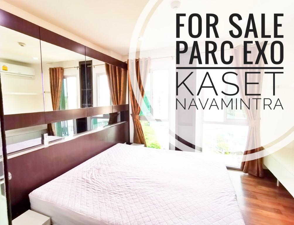 For SaleCondoNawamin, Ramindra : ((Sale below market price)) Condo PARC EXO Kaset-Nawamin, Room Building A, Pool View, Digital Door, Full Electricity (PA83)