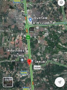 For SaleLandBangkruai, Ratchapruek : Land for sale in Bang Yai, near Central Westgate, 2 rai 1 ngan, 50 meters into Soi Beautiful, very good location